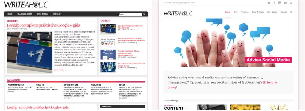 writeaholic blog naar site