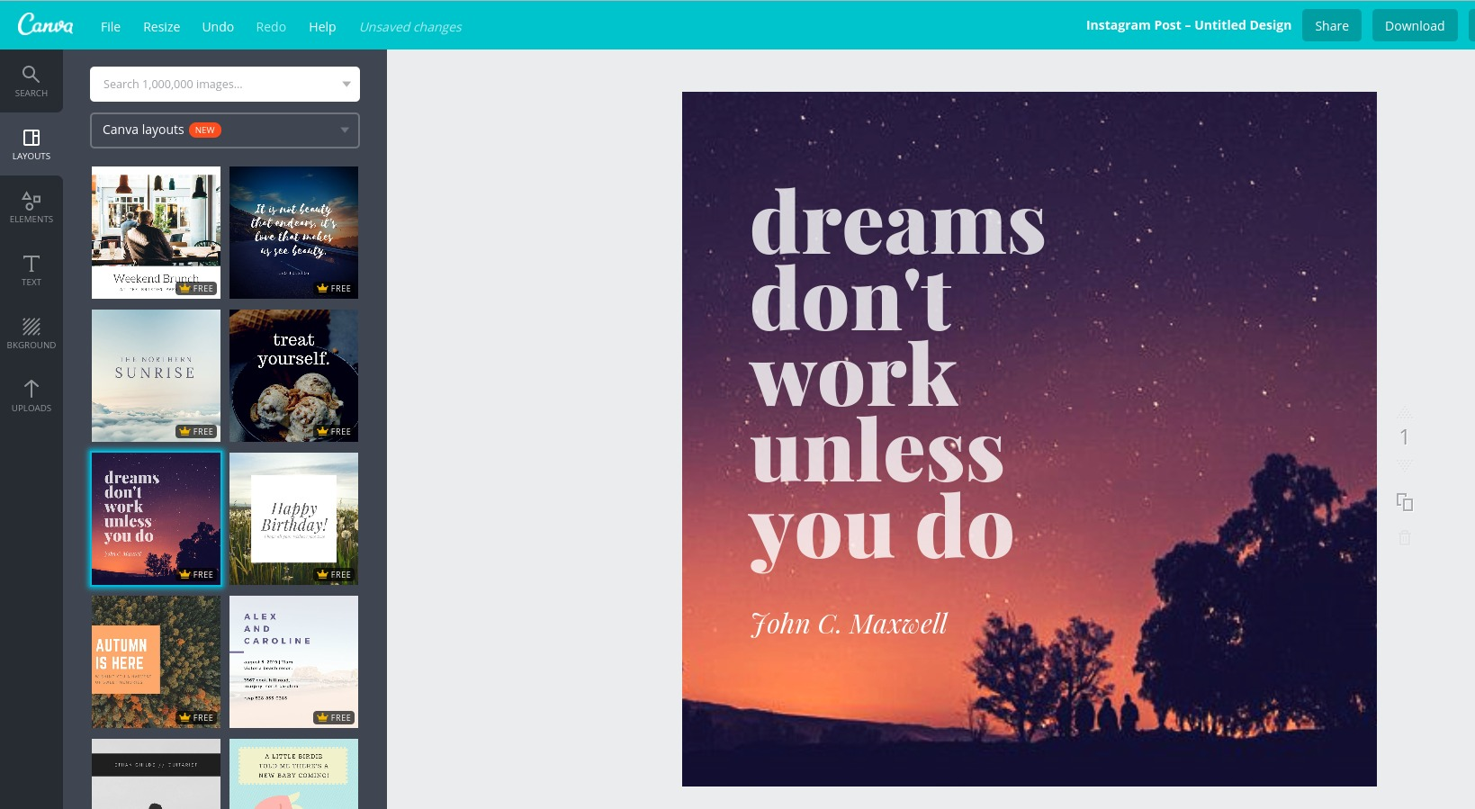 Afbeeldingen met tekst maken met Canva