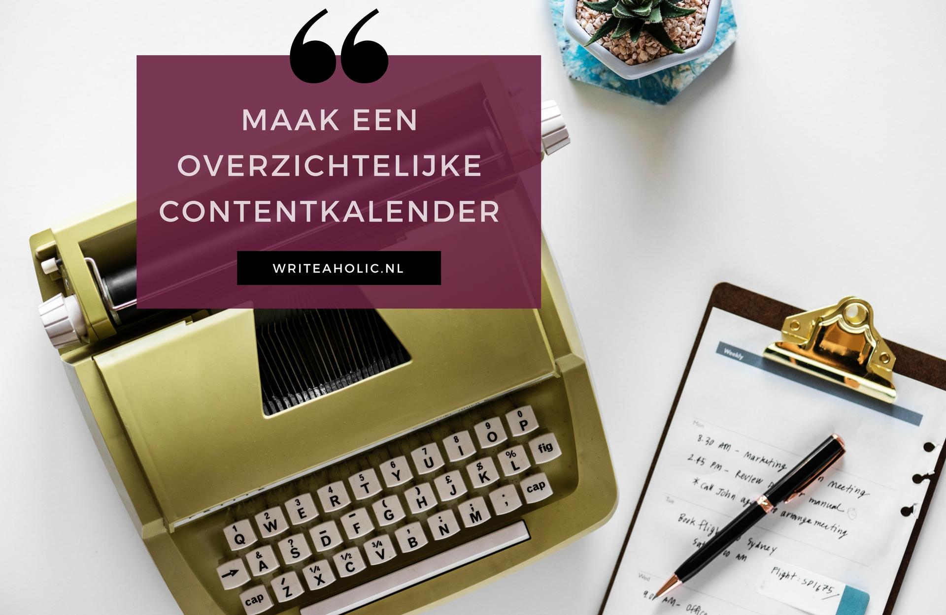 bloggen voor bedrijven contentkalender