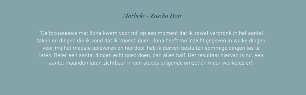 workshop promoten - testimonials