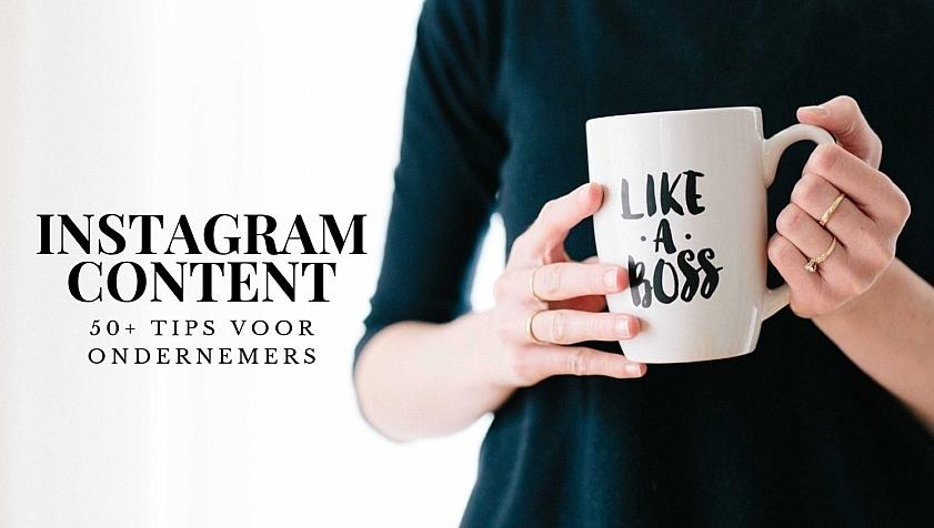 wat post je op instagram als ondernemer