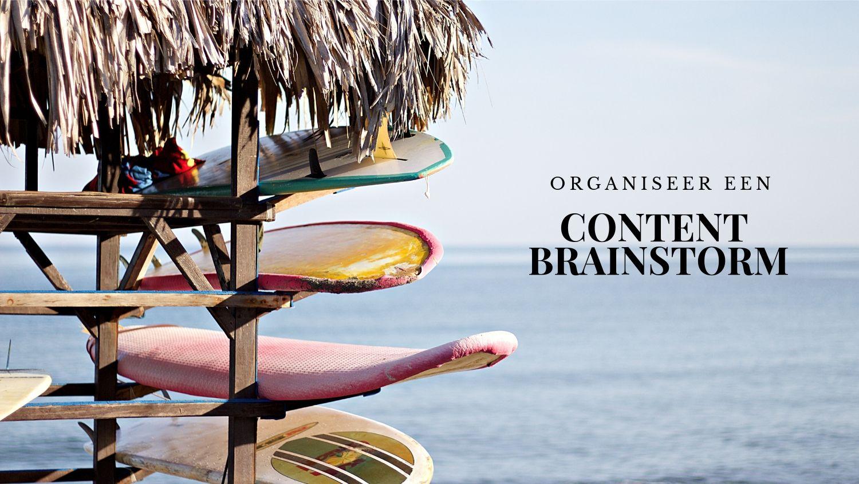 blogtips voor de zomer: contentbrainstorm