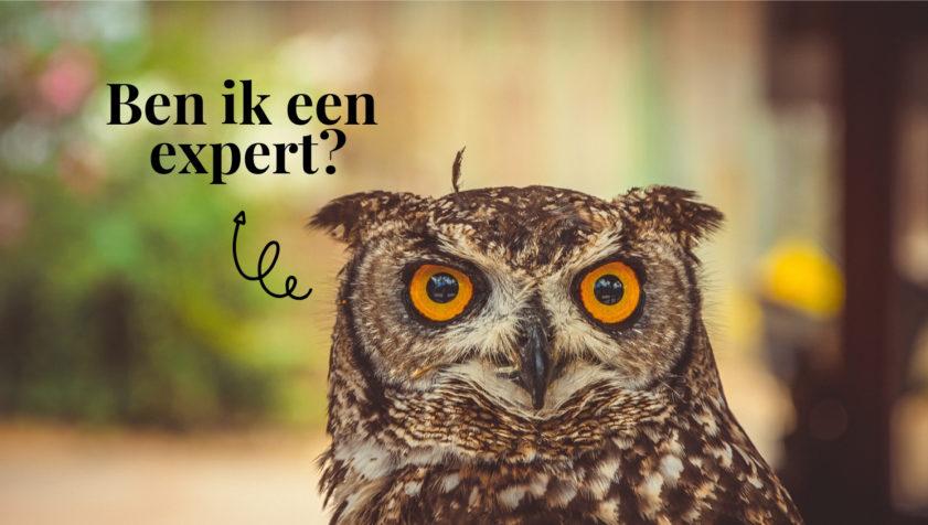 Wanneer ben je expert genoeg?