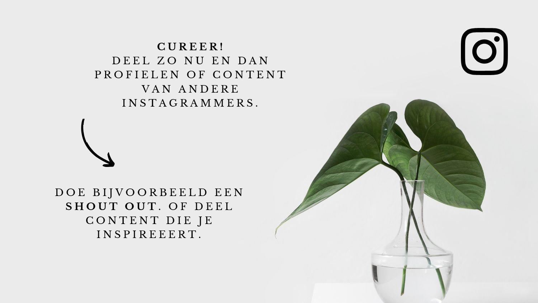 Content van anderen delen op Instagram